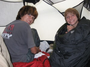 Warm and dry inside the tent, even if you needed to yell to be heard